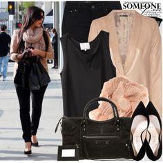peach blazer Kim Kardashian Style