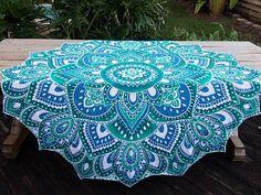 Lotus tapestry Round Mandala Tapestry Hippie tapestry Yoga mat Beach blanket Boho tablecloth Mandala roundie Boho decor Round tapestry