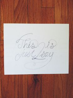 A Tutorial In Hand Lettering - WE DESIGN STUDIOS