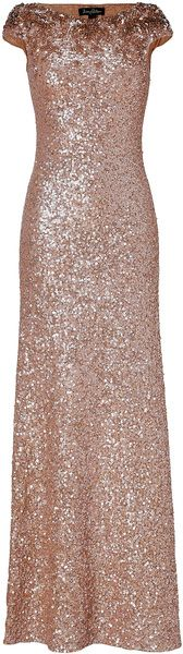 Pebble Allover Sequined Gown by Jenny Packham
