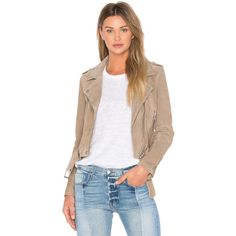 BLANKNYC Suede Moto Jacket ($185) ❤ liked on Polyvore featuring outerwear, jackets, coats & jackets, beige biker jacket, moto jackets, suede leather jacket, suede moto jacket and suede biker jacket