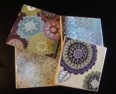 Easy DIY: ceramic tile coasters