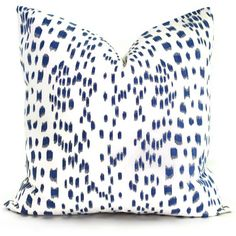 Brunschwig Fils Les Touches Blue and White  Decorative Pillow Cover  18x18, 20x20, 22x22, Eurosham or lumbar