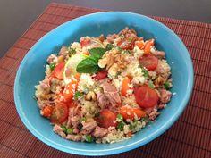 P.S. Eu Cozinho: Salada de CousCous com Atum e Legumes