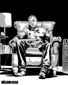 The Governor from The Walking Dead artwork! Love this!!