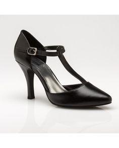 Cinderella of Boston Ginger T-strap pump