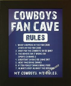 Man cave colors ideas cowboys man cave sports artwork man cave