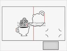 teapot and cup pop up card