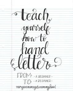Learn how to do hand lettering
