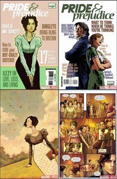Pride and Prejudice Marvel comic, very darkly drawn. Tried to read it but failed.