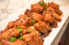 crispy spicy oven baked chicken wings.  the key is to boil the wings first so they crisp up better in the oven.