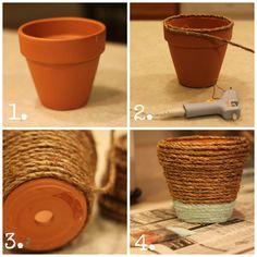 how to make rope wrapped pots via housebyhoff.com