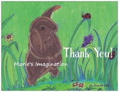 Thank You Greeting Cards  Note Cards with by MariesImagination
