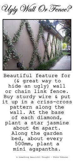 Exterior Wall Fence 59 Ideas For 2019 Garden Ideas In Front Of Fence, Fence Ideas, House Paint Exterior, Wall Exterior, Patio, Backyard, Chain Link Fence, Modern Fence, Garden Features