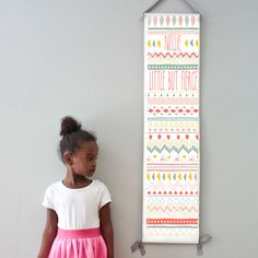Custom/ Personalized Little But Fierce tribal print canvas growth chart - perfect for girl's room or nursery! by GusAndLula on Etsy https://www.etsy.com/listing/234370748/custom-personalized-little-but-fierce
