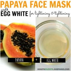 The fruit acids and enzymes in papaya help lighten skin while the egg white helps tighten pores, giving you a flawless look.