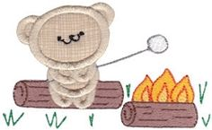 2 Cute Bears Applique 9 - 2 Sizes! | Camping | Machine Embroidery Designs | SWAKembroidery.com Bunnycup Embroidery