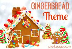 Gingerbread Theme Activities for Preschool and Kindergarten. Literacy, Math, Book Lists, Printables and more to make learning FUN!
