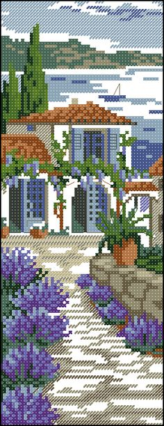 pages and pages of beautiful cross stitch.