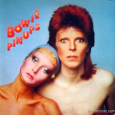 David Bowie and Twiggy on the original album cover of Pin Ups (1973)