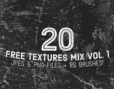 20 Free Textures available in JPEG, PNG and as a Photoshop Brush Set