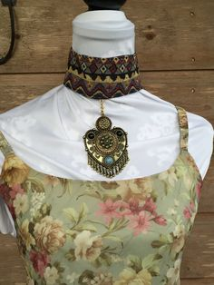 statement necklace tribal necklace tribal choker collar large medallion necklace belly dancer necklace gypsy necklace hippie boho…