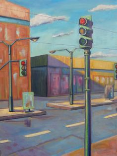 Fine Art oil painting ACEO PRINT Stop light in by brandycattoor on Etsy. Click photo to see full listing.