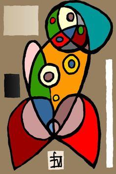 Geometric Artwork, Abstract Art, Swedish Flower Hen, Art Picasso, Image Originale, Art En Ligne, Art Original, Naive Art, Art Abstrait
