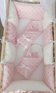 New ⭐️ Babies Cerise Pink Stars Cot Bar Bumpers ⭐️ Pack Of 8