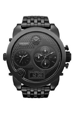 New Diesel DZ7254 Big Daddy Ceramic All Black Oversized Men's Watch !! @CNegron