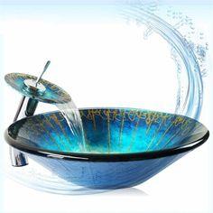 Modern Glas Waschbecken Rund mit Wasserhahn mit günstiger Preis ... | {Waschbecken rund glas 52}