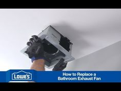 Super easy & awesome video about replacing existing bathroom fan (Lowe's) How To Install a Bath Exhaust Fan - YouTube