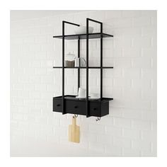 FALSTERBO Wall shelf IKEA The shelves have a ledge to prevent whatever you place…