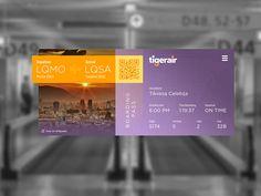 Boarding Pass UI by Goran