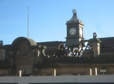 8. The clocktower, readied for removal