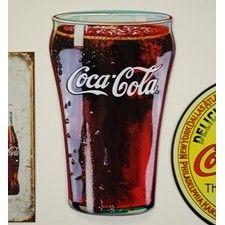 Glass of Coca-Cola Die Cut Sign