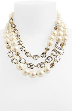 kate spade new york triple strand necklace | Nordstrom