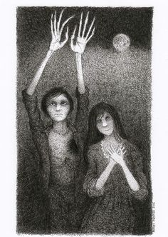 Barney Bodoano illustration for M R James story 'Lost Hearts'.