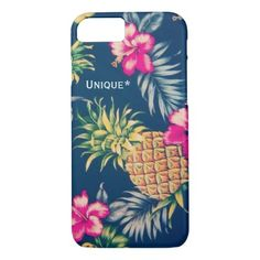 783def3e25 Unique Hawaiian design feat. pineapples & hibiscus Case-Mate iPhone Case |  Zazzle.com