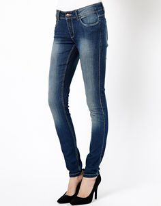 J.D.Y Low Rise Washed Skinny Jeans
