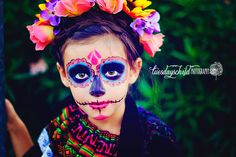 Tuesdays Child Photography. Dia de los muertos, sugar skull makeup, sugar skull, halloween make up, halloween, Mexico, day of the dead, children's photography, Mesa Arizona family photographer, Mesa Arizona children's photography.