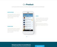 OurProduct - iPhone illustration presentation