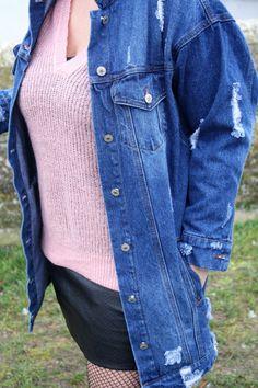 Jean destroyed version veste