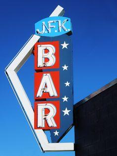 Not technically a motel sing, but JFK Bar....Anaconda, Montana