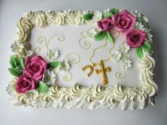 Rippijuhliin Communion Cakes, Cake Decorating, Decorating Ideas, Desserts, Mothers, Decorating Cakes, Stuffing, Stuff Stuff, Tortilla Pie