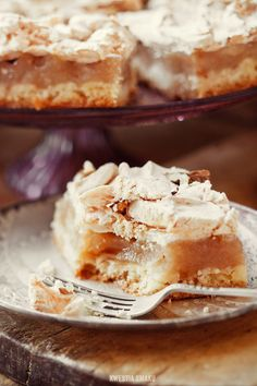 Polish style Apple Pie with Meringue. The translate button is at the top of the page, on the blog.