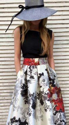 Skirt White Outfit Hats 35 Ideas Me encanta! La pamela le da un toque elegante indiscutible. Outfits With Hats, Mode Outfits, Chic Outfits, Trendy Outfits, Modest Fashion, Fashion Dresses, Black Women Fashion, Womens Fashion, Trendy Fashion