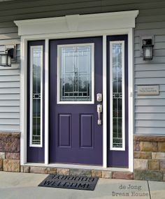 Purple is the new red! Shades of purple are increasing in popularity as a bold entry door color.