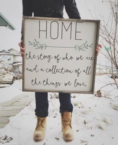 home is the story of who we are and a collection of all the things we love.