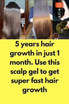 5 years hair growth in just 1 month. Use this scalp gel to get super fast hair growth Learn the way Ways To Grow Hair, Grow Long Hair, Fast Hairstyles, Straight Hairstyles, Hair Fails, Longer Hair Faster, New Hair Growth, Hair Remedies For Growth, Extreme Hair